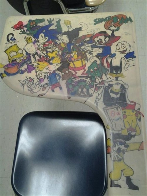 90's Kids will love this detention doodle. - Imgur