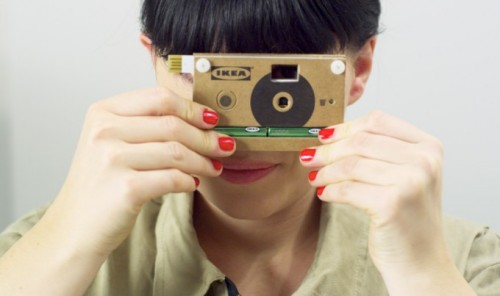 "IKEA new cardboard camera may be available for purchase very soon. ""The camera does way with fancy features and optics, leaving just a cardboard body, two AA batteries and the most basic of functions. You can capture up to 40 photographs (although no word on the resolution) and easily connect the camera to your computer for sharing. This supposedly is the world's cheapest digital camera. In the video you can also see the camera's groundbreaking technology, like 'zoom' and 'image stabilisation'."" Found via Photo Guide"