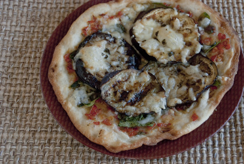Personal Eggplant Parmesan Pizza Adapted from: @EatingWell