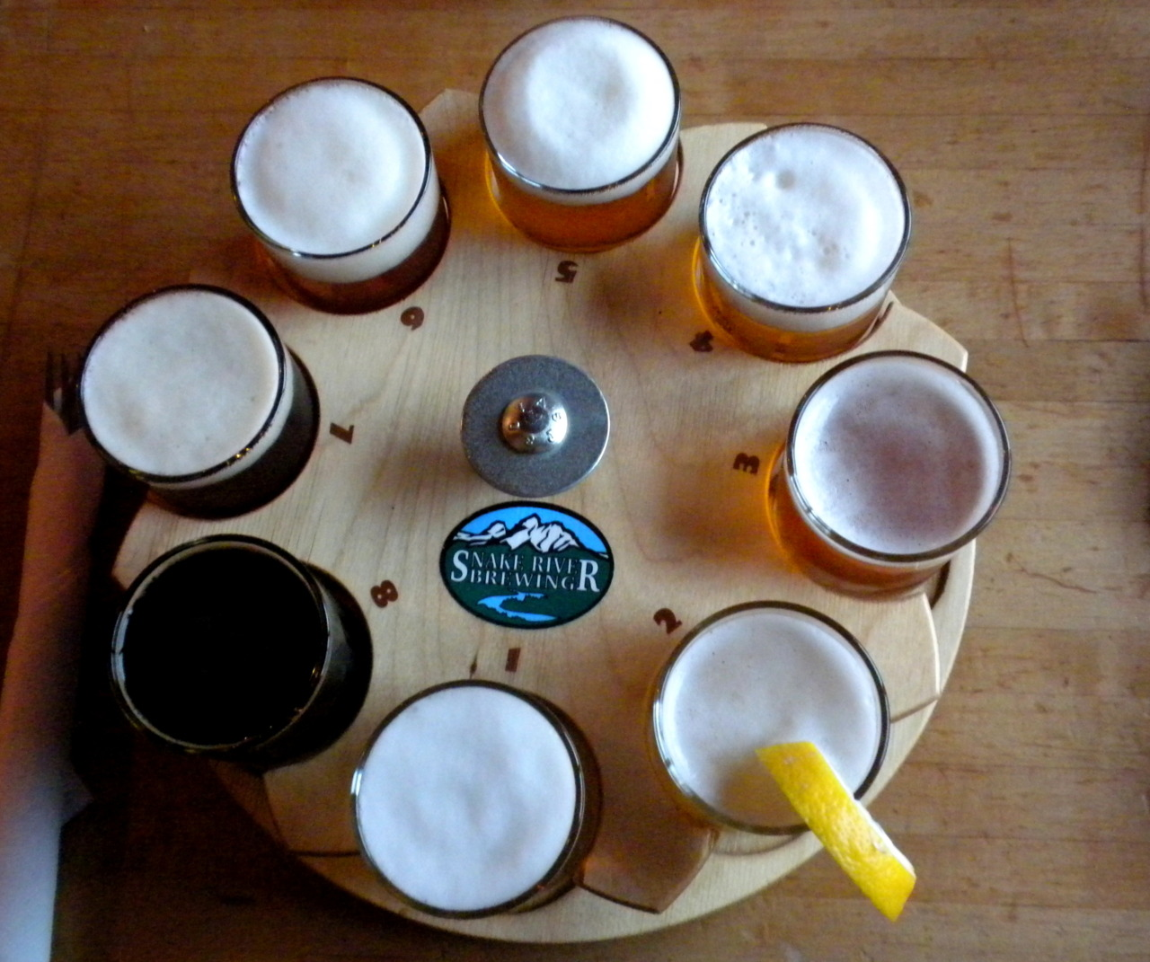 Beer sampler, Snake River Brewing Co., Jackson Hole, Wyoming