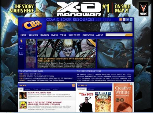 CBR X-O Manowar #1 background ad