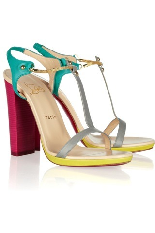 evachen212:  colorblocked Christian Louboutins… they'd be the perfect shoes for a NYC summer: colorful, bright, and comfortable enough to stroll around in  I want them!!!