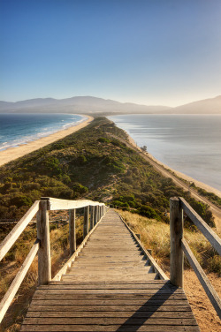 charliewaters:  The sandy isthmus connecting North and South Bruny Island in Tasmania, Australia. by JJ Harrison