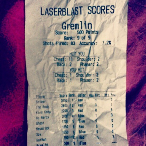 Lazertag:) (Taken with instagram)