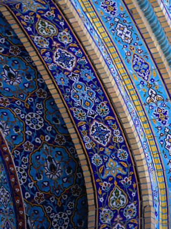 (via Moasic Detail of Iranian Mosque, Dubai, United Arab Emirates Photographic Print by Phil Weymouth - AllPosters.co.uk)