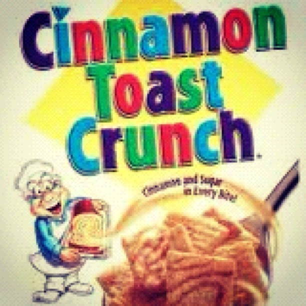 I posted this because #CTC is in the running for TRILLEST CEREAL OF ALL TIME. You know you wanna bowl right now. Don't fight the feeling, baby. Choose a real TRILL cereal and get some soy milk in your life too. Straight sugar cinnamon grain GAME I'm spittin at you. Go on and hit that 'Like' for ya breakfast playa partner, Cinnamon Toast Crunch, baby. I'm tryna get CHOOSED. #CerealPimpin #BreakfastGame  (Taken with instagram)