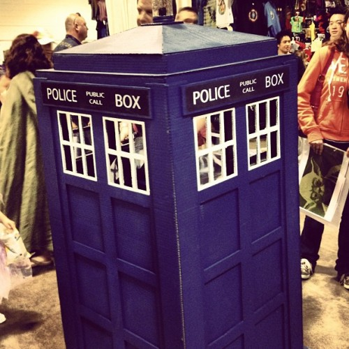 keltre:  There's a child inside that child-sized Tardis. And also, my heart!  Saw this! It was adorable, but part of me thought that it was just a clever way to keep track of their kid!
