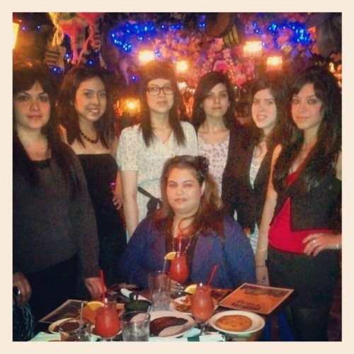 Vanessa's Birthday Dinner #sisters  #oneismissing #eightgirls #hernandez #family #love #ladyd8  (Taken with instagram)