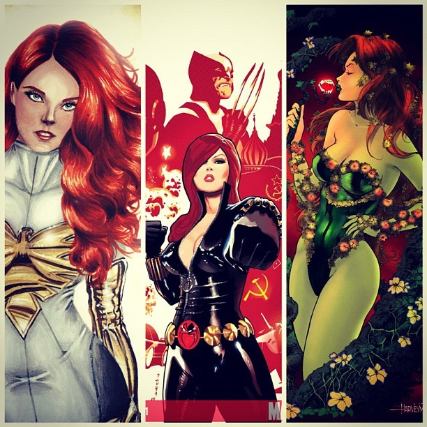The Style Mermaid by Kisty Mea • Jean Grey, Black Widow or Poison Ivy?
