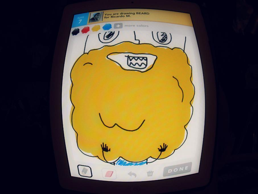 The beautiful golden beard i drew playing draw something.