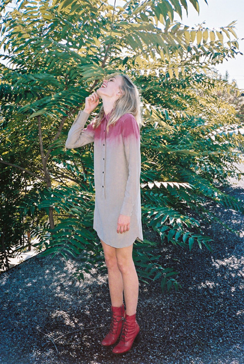 calloway:  hand dyed ombre collared dress by rita liefhebber
