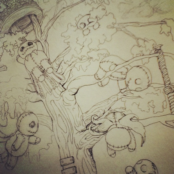 Starting the inking process. :) (Taken with instagram)