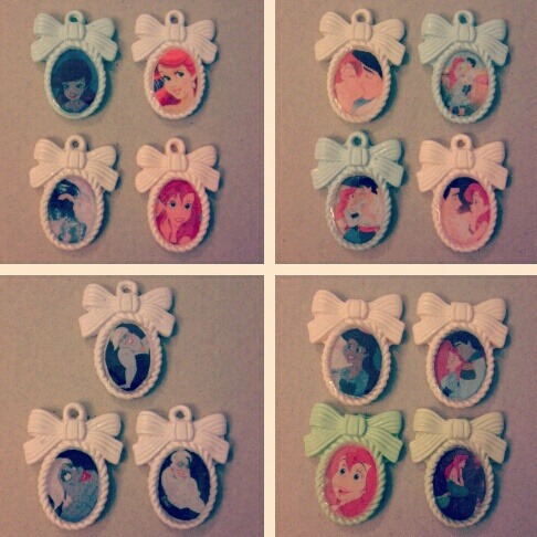mermaidbound:  Little Mermaid Charms are done. <3 Great to put on a necklace, bracelet, keychain, or anything else! $5 for the ones with rings at the top. $4 for the ones w/out rings. Message me if you're interested. I'll be listing them on etsy soon, but of course my followers get first choice. Prices don't include shipping and handling which shouldn't be more than a couple dollars. pee-ess: sorry for the cell phone camera quality.    EVERYBODY BUY THESE UP. <3