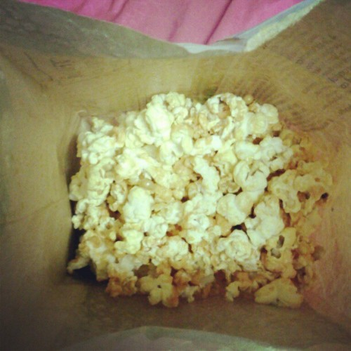 Popcorn with hotsauce:) (Taken with instagram)