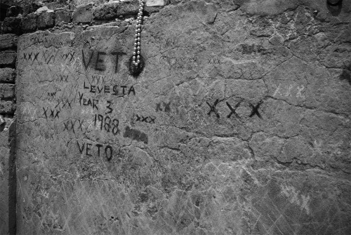 "These are markings all along the more famous voodoo practitioners' catacombs within the cemetery. The story is if one were to mark three ""x""s somewhere on the tomb, they will grant you a single wish."