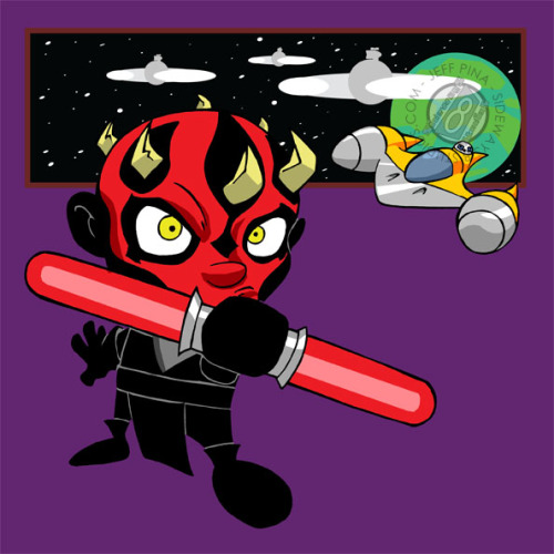 Here's a new Chibi for Phoenix Comic Con! DARTH MAUL!