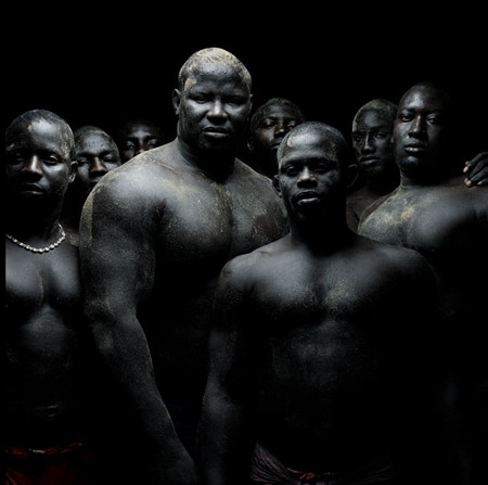 Senegalese Wrestlers,photographed by Denis Rouvre