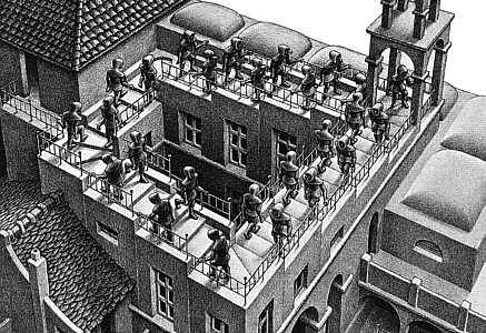 m.c. escher never gets old. I can look at even his most basic sketches over and over.