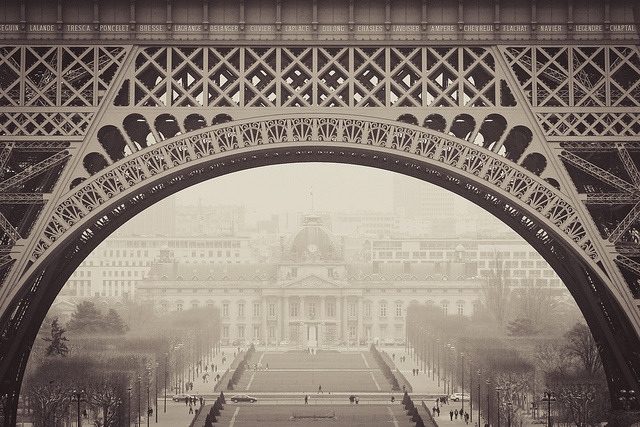en-lamour:  Under Eiffel by Florent Solt on Flickr.