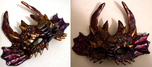 Dragon half mask, made from Crayola Model Magic