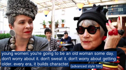 queerhairyvag:  deffo. There's massive ageism going on everywhere because everyonne is learning to fear growing old, as if that's something that's as bad as death itself. so many pics and articles that depicts old people are frail/vulnerable/sick/dying/grumpy/poor/jealous of youth/ready for death and it's ridicolous because lol of course people are going to treat the elderly like they are The Other and fear their own selves getting old so yeah, its about time the message is out there that being old does not = ready to die / jealous of young people