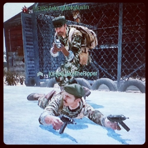 jaketheripperking:  Me and Austin playing black ops  (Taken with instagram)
