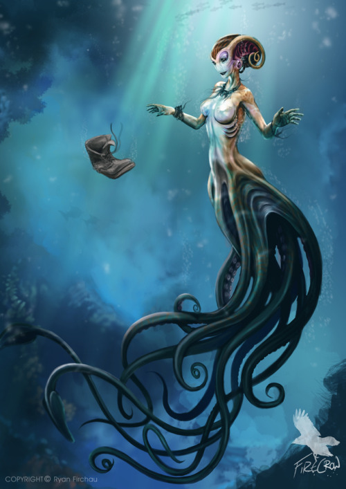 jadestone12:  Mermaid by ~firecrow78