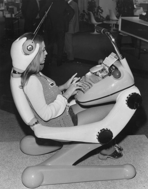 Futuristic office furniture, 1971