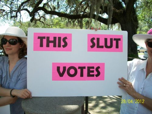 """This Slut Votes!"""