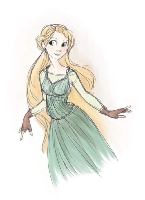 future-sarah:  Rapunzel wearing this costume design by Claire Keane