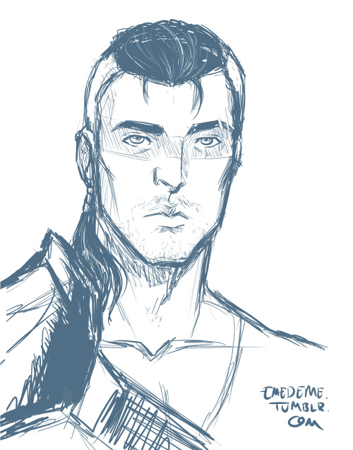 Sometimes this is a blog for sketches (again)  Qanik, xim's Chansid OC. Because the guy has a fine bone structure and I'm already a shipper.