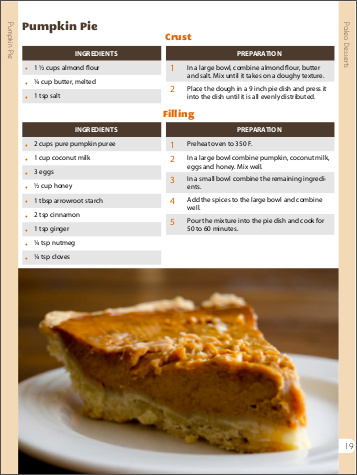 Delicious pumpkin pie!!! Click to get the recipe!