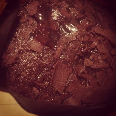 Chocolate molten cake  (Taken with instagram)