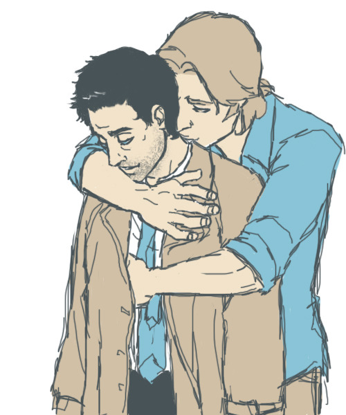 I think Cas needed a hug.