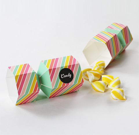 Free Bonbon Candy Favor Box | Eat Drink Chic Who says bonbons are just for Christmas!? With these super adorable printable bonbons you can make them for any occasion. My niece absolutely loves bonbons - and the great thing about these is we can just slide it back together and she can 'pop' it over and over again!