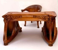 Desk by Eugène Vallin, before 1922