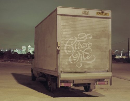 jaymug:  Dirty Truck Calligraphy by Alison Carmichael