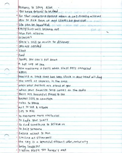 goldenlocket:  Matthew Gray Gubler's list of reasons to stay alive.