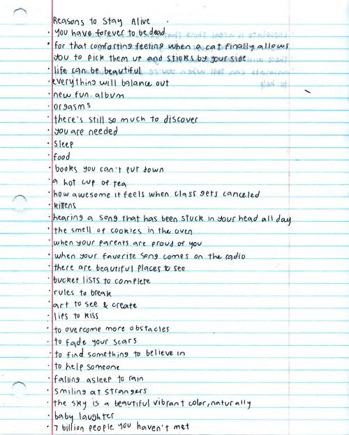 Matthew Gray Gubler's reasons to stay alive
