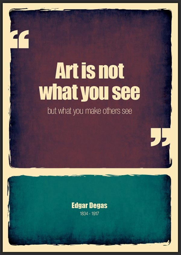 Art is not what YOU see…