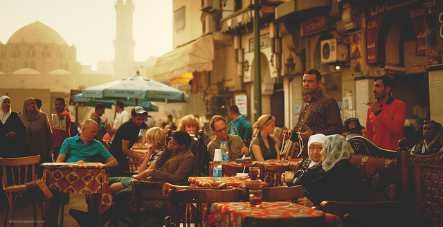 travelingcolors:  Cafè in Cairo | Egypt (by BeboFlickr)