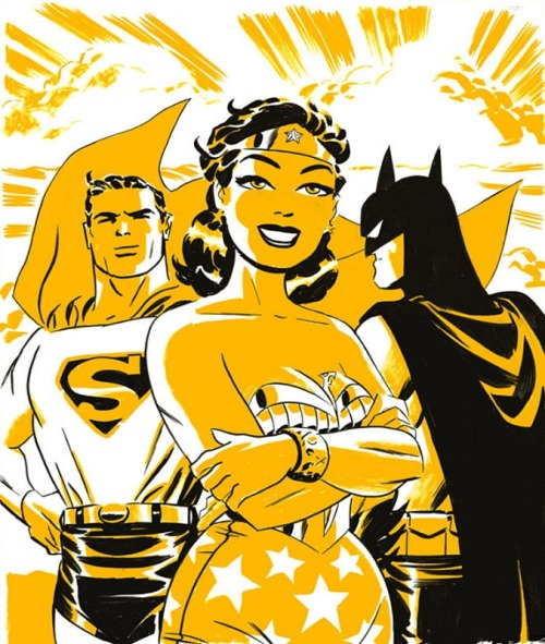 Batman, Superman & Wonder Woman by Darwyn Cooke. (Source)