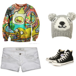 ^^ by shilky featuring knit hatsAbercrombie & Fitch cotton shorts, $54Converse hi top sneaker, £45Jane Norman knit hat, £5