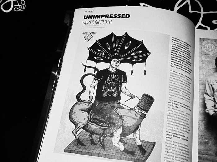 Unimpressed Print'd Cloth in Acclaim magazine.