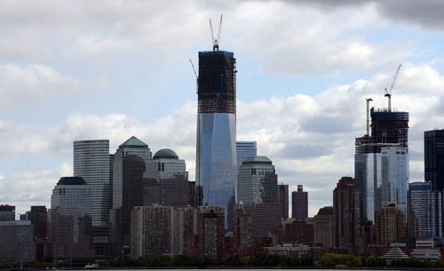 Photograph: Don Emmert/AFP/Getty Images How One World Trade Centre looked on 27 April 2012, as it's poised to become New York City's tallest building
