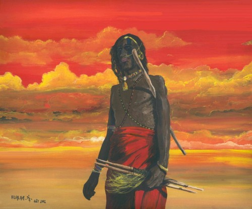 Masaï et Ciel Rouge - Masaï and Red Sky