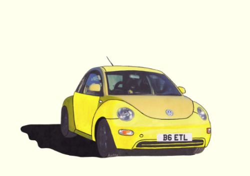 VW Beetle Illustration