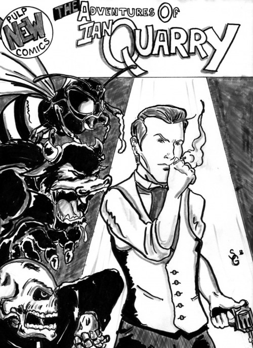 costak:  THE ADVENTURES OF IAN QUARRY, my new pulp/horror webcomic series has gone live! I'm working this with Stephen Garza, and you can check out this pinup of Sir Quarry at the site now! You can check out this blog post about the specifics of the project, and subscribe/stay tuned/spread the word!
