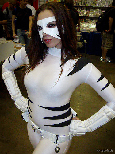 "comicbookcosplay:  White Tiger (or La Tigre Blanca) One very ""hawt-looking"" lady. Cosplayer: CeNandra; Location: Baltimore Comic-Con 2011 Submitted by greyloch"