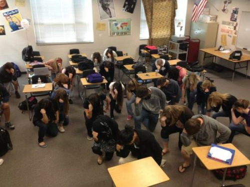 Tebowing from the Classroom!